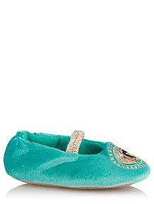 beff58cac6bd Disney Princess Jasmine Turquoise Slippers