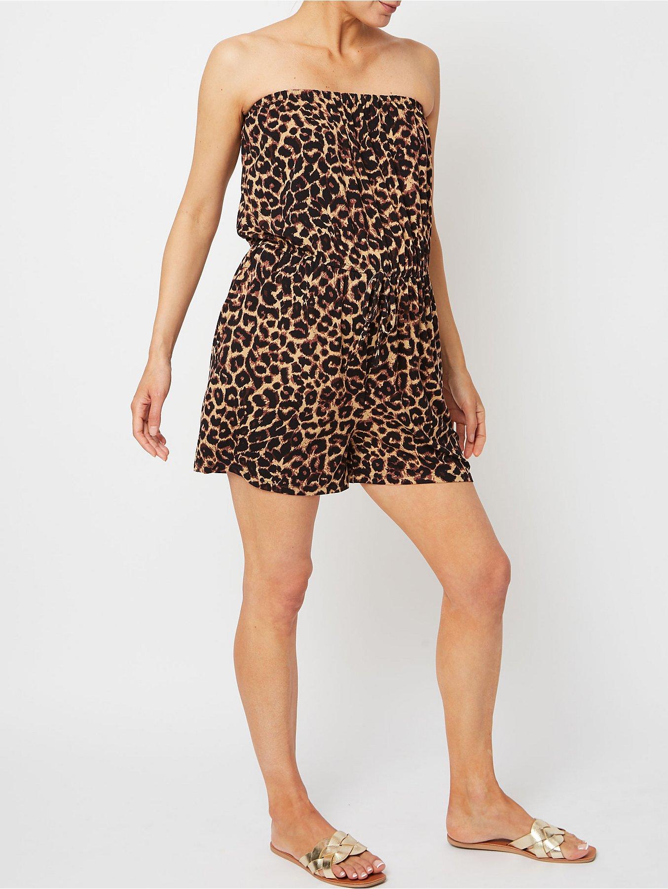 b98af78285 Maternity Leopard Print Bandeau Playsuit | Women | George