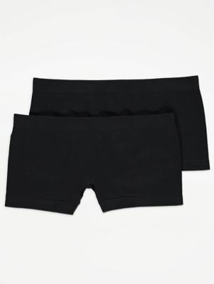 Black Seam Free Short Briefs 2 Pack