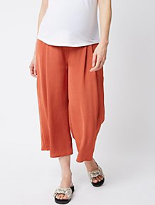 Maternity Burnt Orange Pleated Over Bump Culottes 9db2c8684c