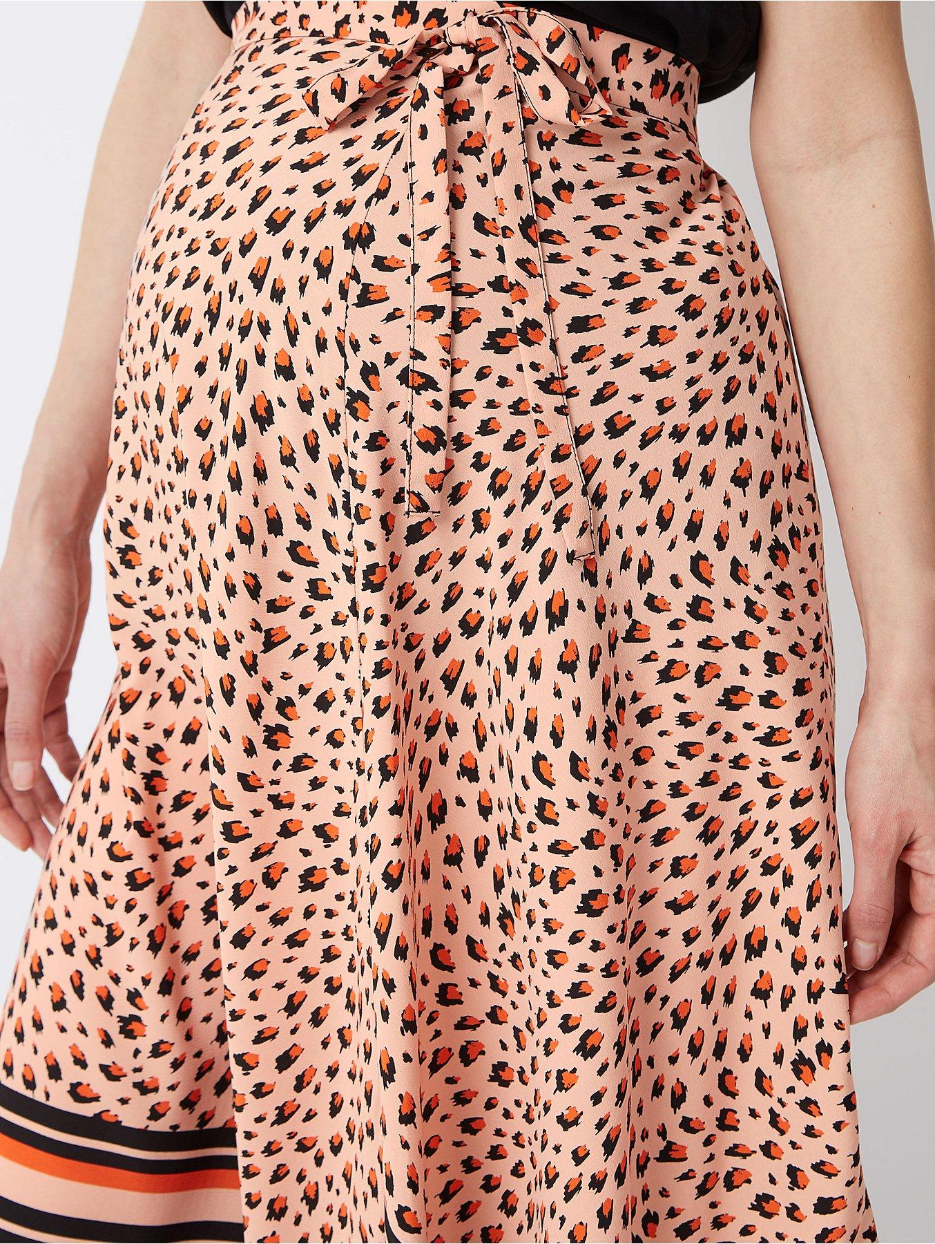 f897a4b3e4e92 Maternity Pink Animal Print Asymmetric Midi Skirt | Women | George