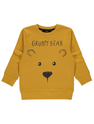 Yellow Grump Bear Sweatshirt