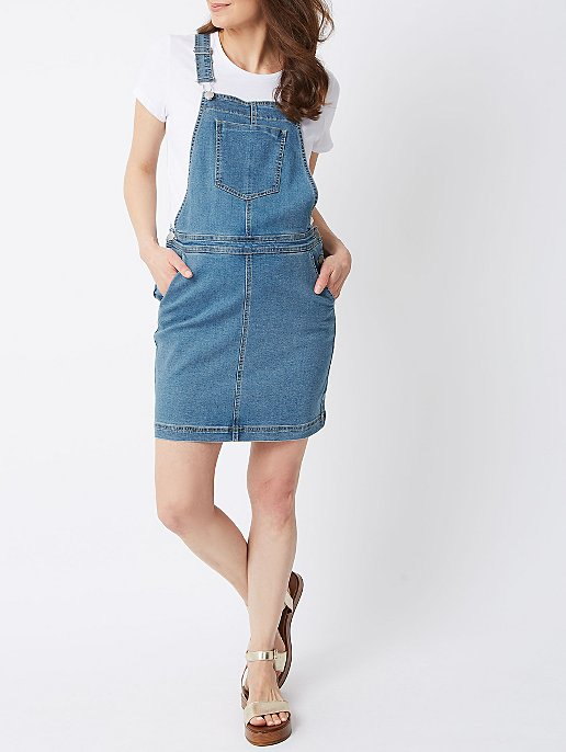4ddbebf45 Maternity Denim Pinafore Dress