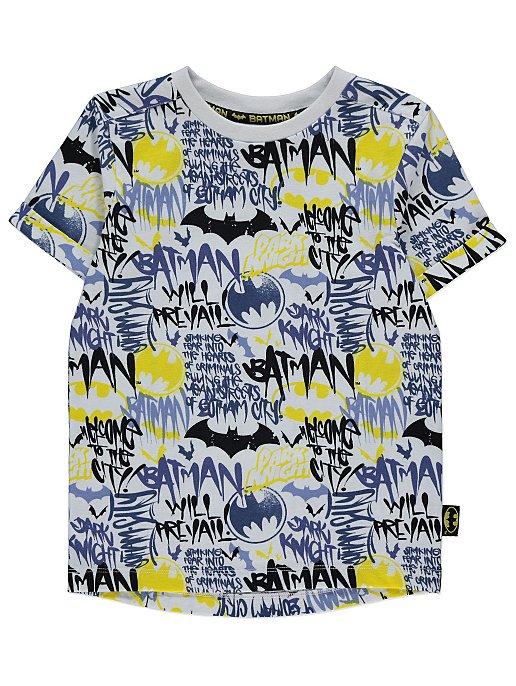 e49137449 DC Comics Batman White Printed T-Shirt | Kids | George