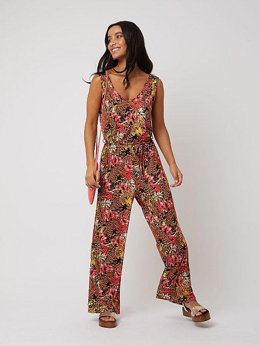 eeca83395d Floral Jersey V-Neck Jumpsuit. Video