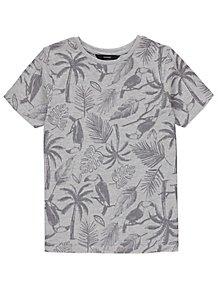 2232be246 Grey Marl Toucan Print Short Sleeve T-Shirt