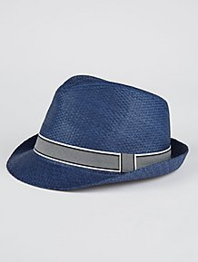 5689870989a Navy Trilby Hat