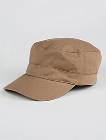 25dc2770bd1 Khaki Twill Flat Cap