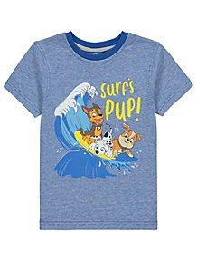 ba8018fc37b3 PAW Patrol Blue Surf Graphic Short Sleeve T-Shirt