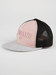 01c07d1c8d8 Pink Brooklyn Heart Mesh Back Cap