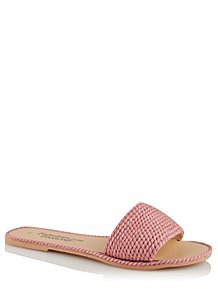 e09eaa0f51ab Pink Braided Mule Sandals