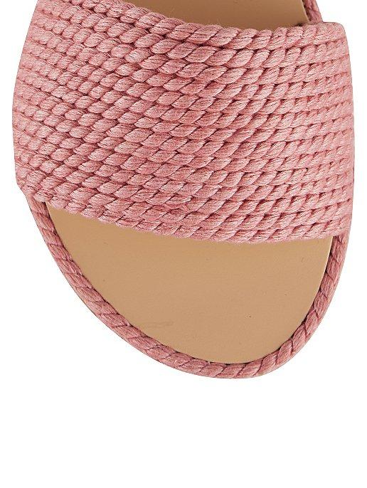 d96881c772ab Pink Braided Mule Sandals