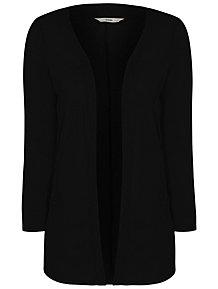 3ceab1489739 Black Lightweight Open Front Cardigan