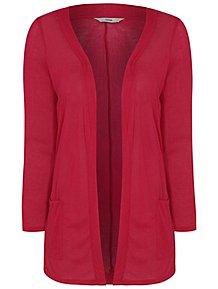 d3af0c1b64f4 Pink Lightweight Open Front Cardigan