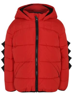 Red Padded Dinosaur Shower Resistant Coat