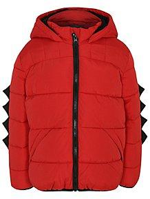 0c457fa394b66 Red Padded Dinosaur Shower Resistant Coat