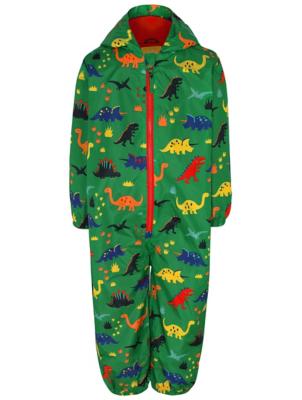 Green Dinosaur Print Puddle Suit