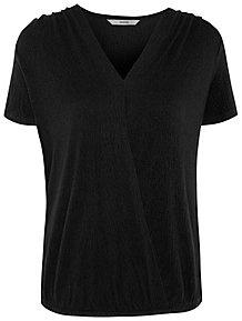 58cea2bb790e Black Textured Bubble Hem Top