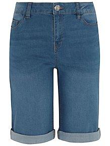 99e9969b3061 Light Wash Denim Knee Length Shorts