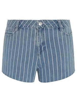 Stripe Denim Shorts