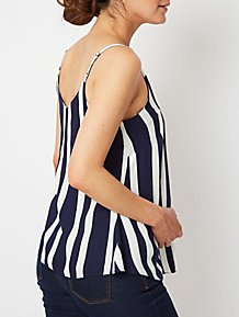 8bdb2904386 Maternity Navy Stripe Woven Camisole Top