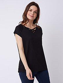 1f77c9cf2bc Black Lattice T Shirt
