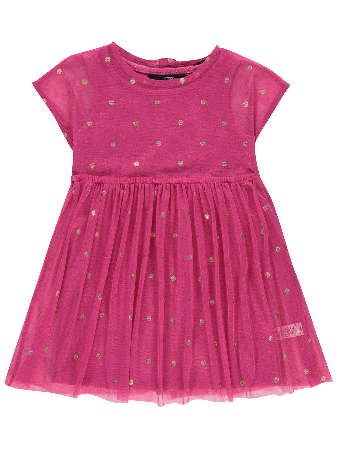 073dee72d Pink Polka Dot Print Tulle Dress | Kids | George
