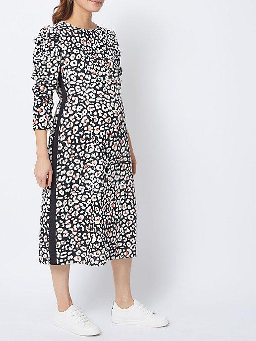 be3c702c7a8a49 Maternity Animal Print Side Stripe Midi Dress | Women | George