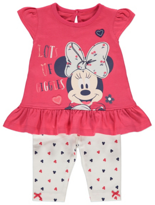 Disney Minnie Mouse Frill Top and Leggings Outfit