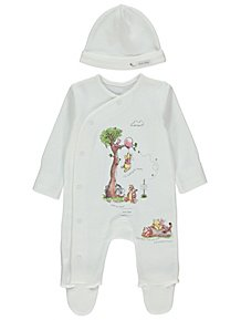 ae0c5f50843 Disney Winnie the Pooh Sleepsuit and Hat Outfit