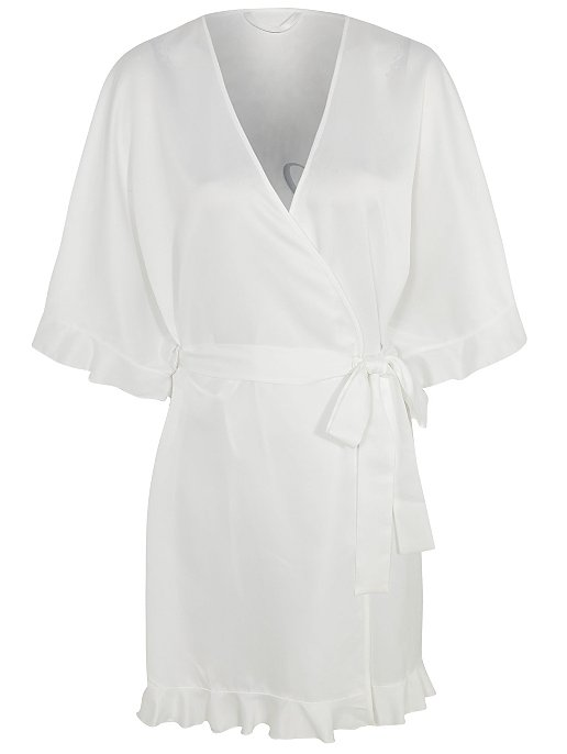 discount shop free shipping new concept White Bride Slogan Dressing Gown