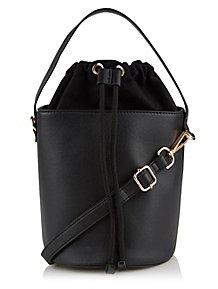6e9c6ad4594b Black Drawstring Bucket Bag