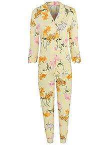 e6093534c Yellow Floral Print Pyjamas
