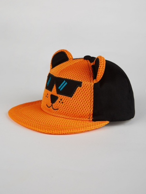 Orange Tiger Mesh Cap