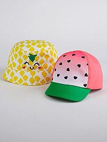 f84d92c0855 Fruit Sun Hats 2 Pack