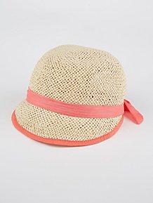 b9240346264 Pink Sparkle Bow Tie Cloche Hat