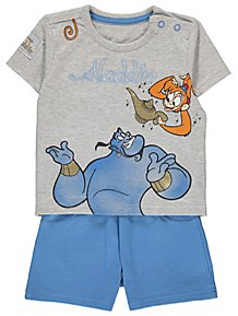 519f71ebd917c Disney Aladdin Genie T-Shirt and Shorts Outfit