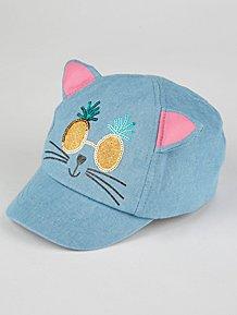 a2914f65ccbbf Denim Pineapple Cat Cap