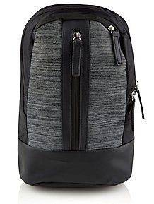 4d2d5e17df4 Black and Grey Sling Rucksack