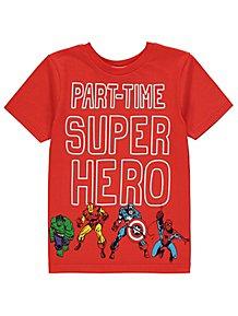Marvel Comics Red Superhero Slogan T-Shirt f68cc4d462