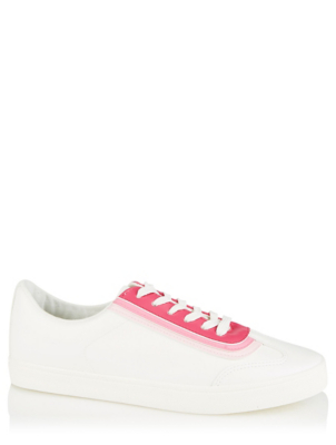Pink and White Ombré Retro Trainers