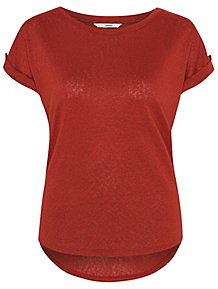 1430f10c22c Red Button Short Sleeve Top