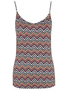 a37256da316c9 Aztec Print Jersey Swing Camisole Vest
