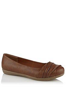 70b6bafb103 Tan Wrap Toe Ballet Shoes