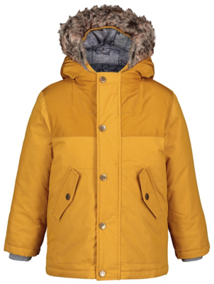 Mustard Yellow 3 in 1 Shower Resistant Parka