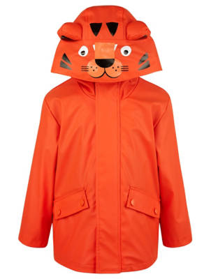Orange Tiger Shower Resistant Fisherman Jacket