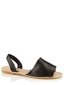 bf2307a935 Black Open Toe Slingback Sandals