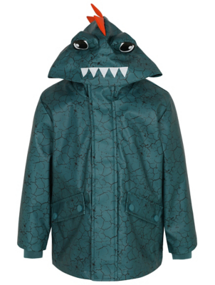 Teal Crocodile Shower Resistant Fisherman Jacket