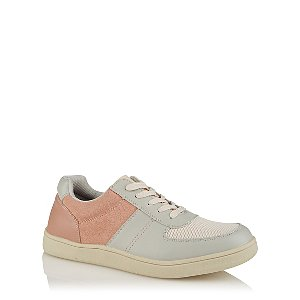 Pink and Grey Retro Trainers