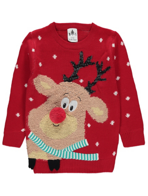 Red Rudolph Knitted Christmas Jumper